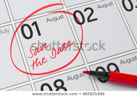 сохранить дата написанный календаря август пер Сток-фото © Zerbor