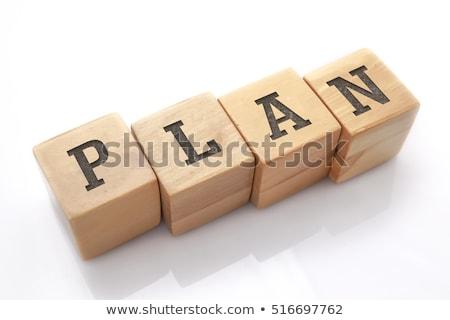 szkoły · pokładzie · słowo · pomysł · drewniany · stół · działalności - zdjęcia stock © fuzzbones0