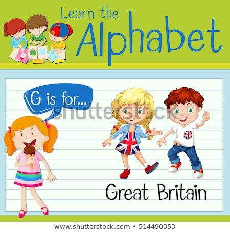 Groot-brittannië illustratie meisje kind student Stockfoto © bluering