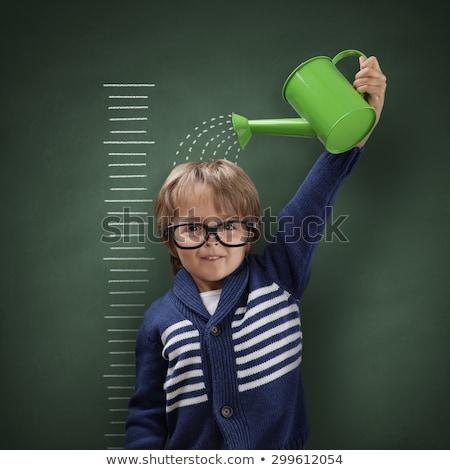 Croissant graphiques tableau noir Finance données graphique Photo stock © goir