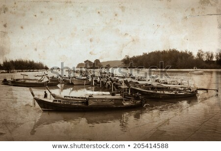 старые тайский лодка пляж морем стиль Сток-фото © bank215