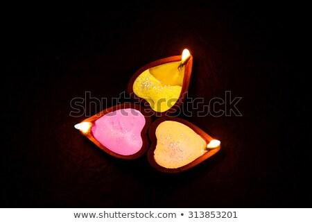Etnic trei diwali salut lumânare lampă Imagine de stoc © SArts
