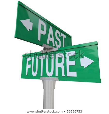 passado · apresentar · futuro · notas · isolado · vintage - foto stock © zerbor