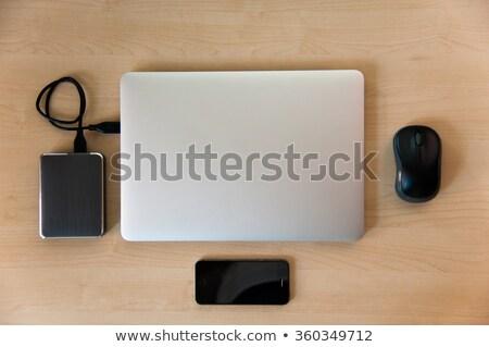 External Hard Disk Over Laptop Keyboard Stock photo © jirivondrous
