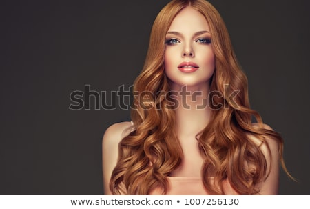 Beautiful girl with long red brown hair Stock photo © svetography