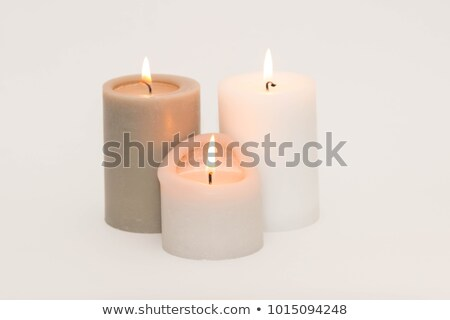 set of three burning candles stock photo © pakete