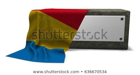 каменные гнездо флаг 3D Сток-фото © drizzd
