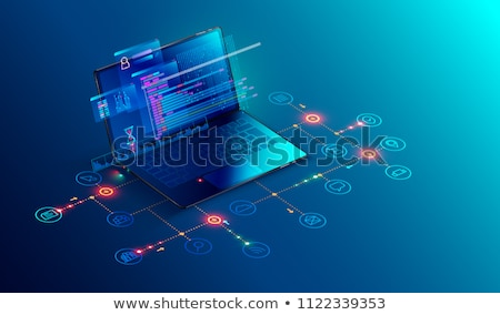 laptop screen with seo monitoring concept 3d illustration stock photo © tashatuvango
