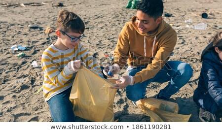 Chłopca gry piasku plaży Zdjęcia stock © wavebreak_media