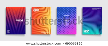 Abstrato colorido meio-tom vetor espectro onda Foto stock © m_pavlov