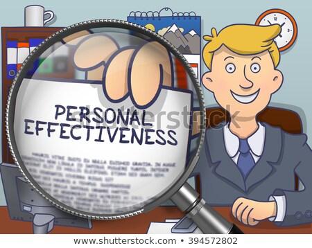 personal effectiveness through lens doodle concept stock photo © tashatuvango
