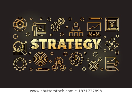 growth strategy on golden cog gears stock photo © tashatuvango