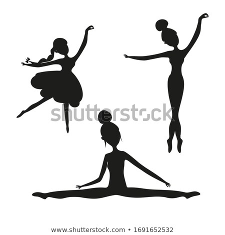 Aufkleber Set Frauen Gymnastik Illustration Sport Stock foto © bluering