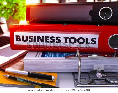赤 リング 碑文 ビジネス ツール 作業 ストックフォト © tashatuvango