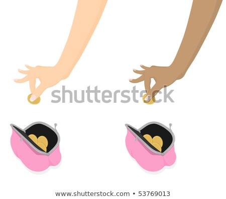 Kéz pénz pénztárca nő divat táska Stock fotó © IS2