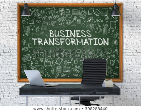 Business Transformation - Hand Drawn on Green Chalkboard. Stock photo © tashatuvango