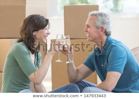 heteroseksüel · sevmek · gece · erkek · kadın · beyaz - stok fotoğraf © is2