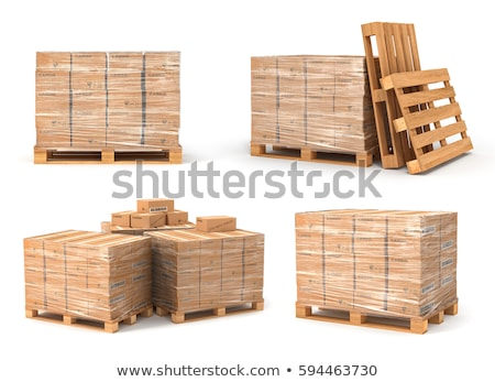 Set pallet and cardboard boxes Stock photo © orensila