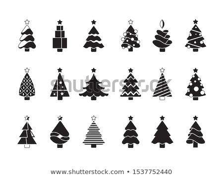 Szett monokróm karácsony játékok dekoratív elemek Stock fotó © frescomovie