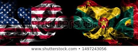 Futball lángok zászló Grenada fekete 3d illusztráció Stock fotó © MikhailMishchenko