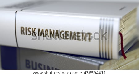Book Title on the Spine - Risk Management. Stock photo © tashatuvango