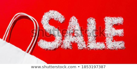 Rosso vendita simbolo vernice bianco arrow Foto d'archivio © adamson