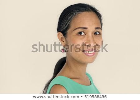 Hermosa americano mujer negro cara sexy Foto stock © keeweeboy
