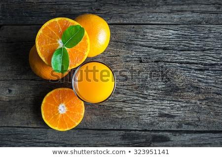 Sinaasappelsap hout vruchten achtergrond oranje drinken Stockfoto © M-studio