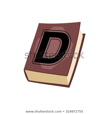 Letter A on  cover of book. Old Edition with alphabetical icon.  Stock photo © popaukropa