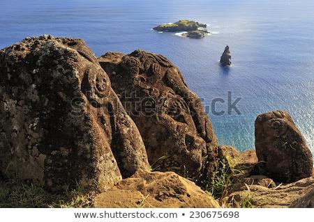 Остров Пасхи океана пейзаж Чили трава Сток-фото © daboost