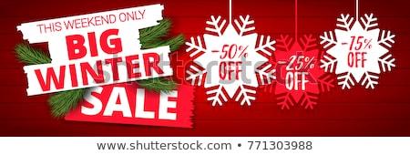 karácsony · vásár · izolált · vektor · matrica · fehér - stock fotó © studioworkstock