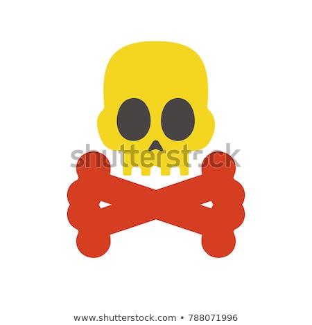 signe · de · danger · rouge · signe · dangereux · main · fond - photo stock © biv