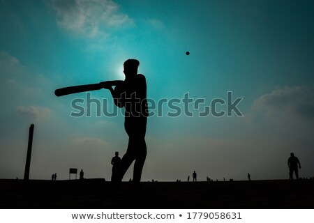 Young cricketer Stock photo © IS2