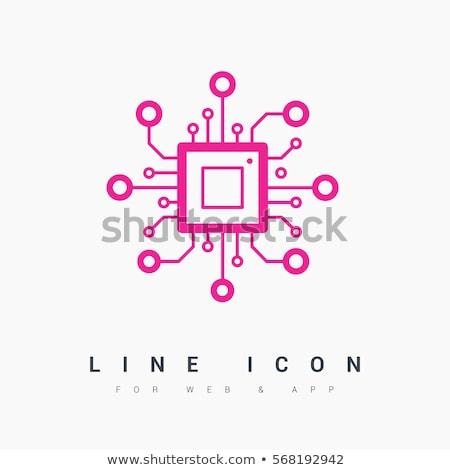 Circuit board as high tech minimalistic background Stock photo © stevanovicigor