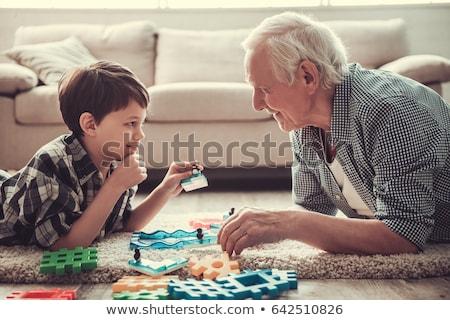 Grootouders kleinzoon welkom grootvader buitenshuis Spanje Stockfoto © IS2