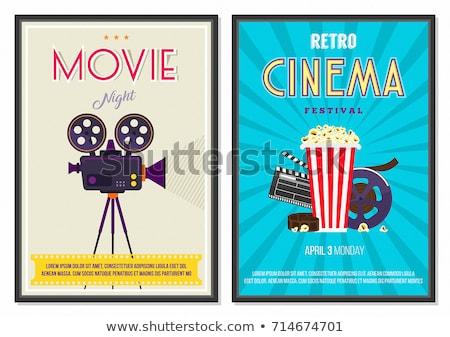 Theater Flat Poster Design Stock photo © lenm