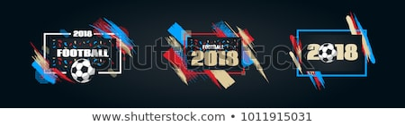 2018 soccer tournament stylish background Stock photo © SArts