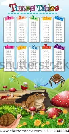 math · vermenigvuldiging · aantal · vier · illustratie · ontwerp - stockfoto © bluering