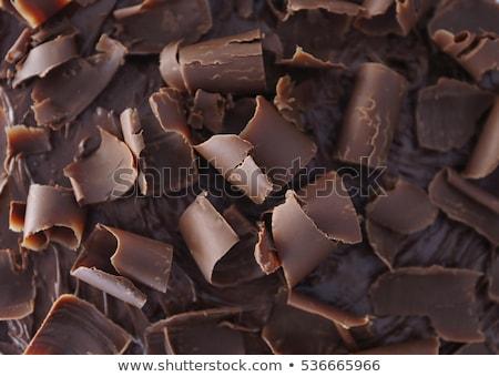 Chocolade dessert vla room heerlijk christmas Stockfoto © Melnyk