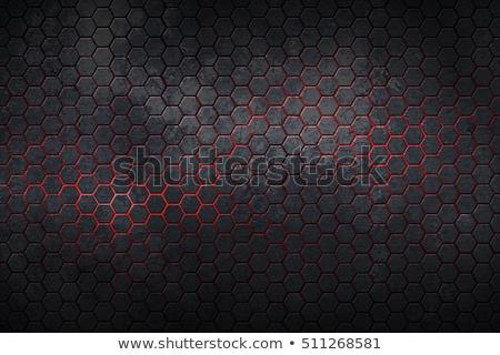 A nido d'ape metallico carbonio texture grafica graphic design Foto d'archivio © smith1979