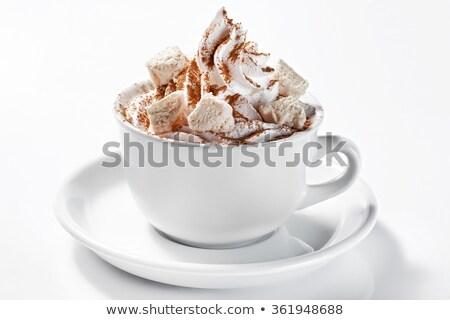 Beker cacao slagroom top mok Stockfoto © dash