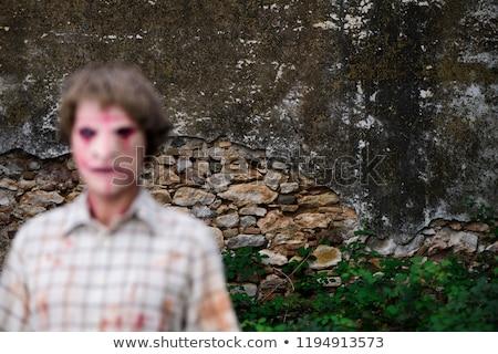 scary disfigured man outdoors Stock photo © nito