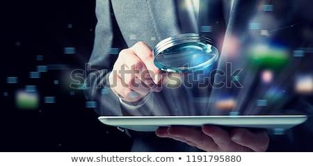Empresário comprimido lupa internet segurança infectado Foto stock © alphaspirit