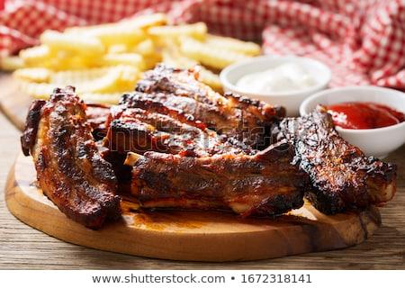 grilled pork ribs stock photo © grafvision