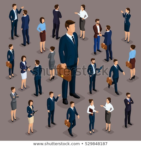 Stock photo: Business People in Office Clothes Characters Set
