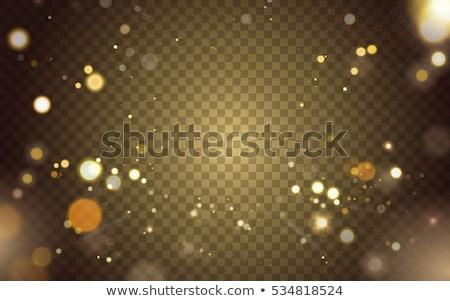 Gouden bokeh lichten feestelijk illustratie Stockfoto © derocz