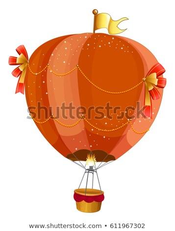 Fancy hotair balloon flying on white Stock photo © colematt