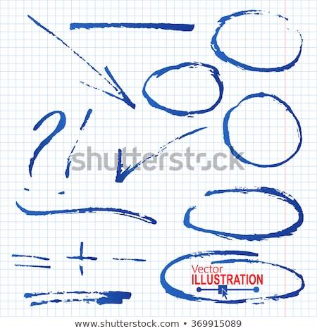 Stroke Handwritten With Blue Marker Stock photo © ivelin