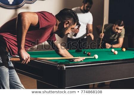 oynama · havuz · bilardo · masası · bilardo · eğlence - stok fotoğraf © kzenon