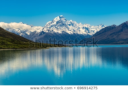 Road to Mt Cook, the highest mountain in New Zealand.  Stock photo © cozyta